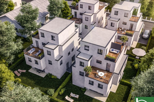 Exklusives Doppelhaus mit viel Privatsphäre und Panoramablick – Badeteich Hirschstetten – Gewerbepark Stadlau