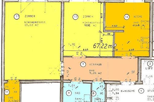 Provisionsfrei: Große 2-Zimmerwohnung mit Essküche und Loggia
