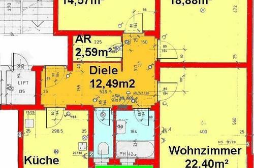 Großzügige 3-Zimmerwohnung mit schöner West-Aussicht