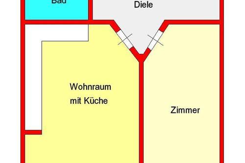 kleine 2-Zimmer-Wohnung - zentral, Nähe GKK