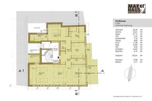 Markthaus Mondsee - Penthouse deluxe mitten im Zentrum