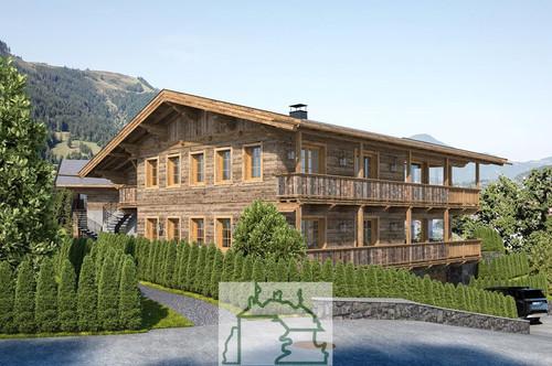 Kitzbühel: Neubauprojekt- Zwei hochexklusive Landhäuser mit 4 Wohnungen in sonniger Stadtrandlage