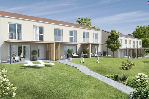 Purer FAMILIENTRAUM - MAISONETTEN-Wohnung mit sonniger Terrasse + Garten + 2 Stellplätze