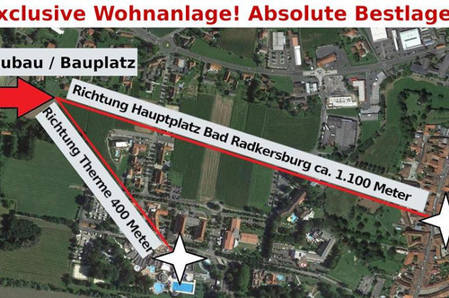 Eckgartenwohnung ! Exclusive Wohnanlage in absoluter Bestlage nähe Therme! A-Top