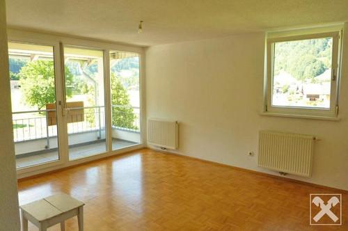 Wohnen im hinteren Bregenzerwald - freundliche 2-Zimmerwohnung mit Veranda