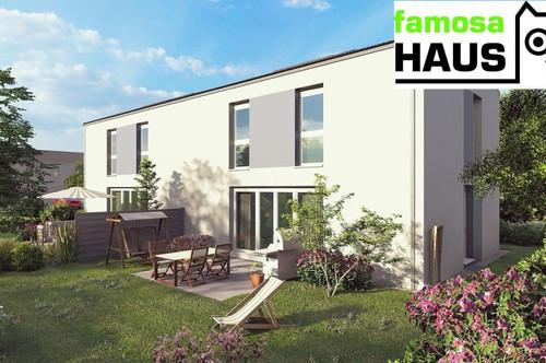 Ziegel-Massiv Doppelhaushälfte: 101m² Wohnfläche, 54m² Keller, mit Eigengarten und 2 PKW-Abstellplätzen. Provisionsfrei!