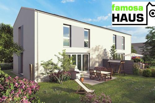 Ziegelmassive Doppelhaushälfte: 101m² Wohnfläche, 54m² Keller, Eigengrund und 2 Parkplätze. Provisionsfrei!