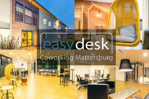 easydesk Coworking Mattersburg - vom flexiblen Arbeitsplatz bis zum eigenem Büroraum