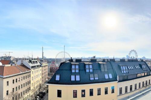 UPLIVING IM 2.BEZIRK - GEDIEGENER LUXUS FÜR HÖCHSTE ANSPRÜCHE! 132 m² DACHTERRASSENWOHNUNG MIT PANORAMABLICK - POOL, DAMPFBAD - ERRICHTET 2020 - BEZUG SOMMER 2020 !