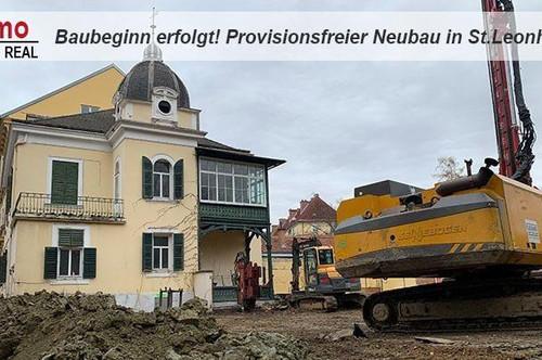 BAUBEGINN ERFOLGT! 2-Zimmer-Neubauwohnung in St.Leonhard!!