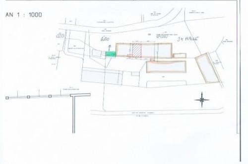 LAGERHALLEN bis ca. 3800 m2, Lagerhallen teilbar und BÜROGEBÄUDE ca. 140 m2 zu vermieten