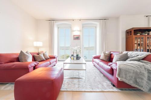 Wörtherseearchitektur-Villa mit überwältigendem Panorama-Seeblick und Seezugang