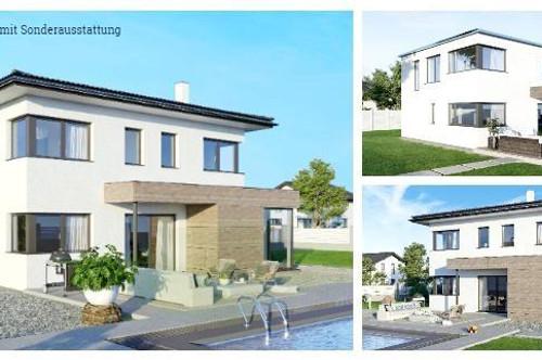 Tigring/Nahe Moosburg - Schönes ELK-Design-Haus und Grundstück in leichter Hanglage mit Gartenhütte (Wohnfläche - 130m² & 148m² & 174m² möglich)
