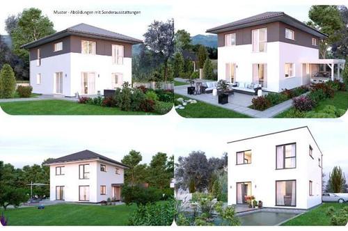 Tigring/Nahe Moosburg - Schönes ELK-Haus und Grundstück in leichter Hanglage mit Gartenhütte (Wohnfläche - 117m² - 129m² & 143m² möglich)