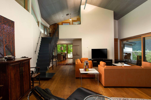 Architektenvilla - Blick auf die Loferer Steinberge