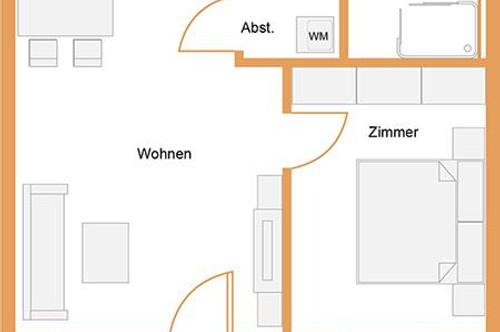 ANNA Maria   provisionsfrei   ab sofort   2-Zimmer mit Balkon