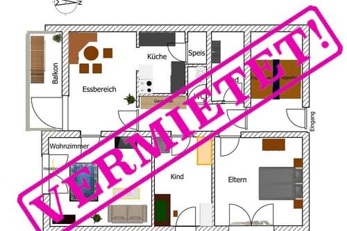 günstige 3 ZI-Wohnung - VERMIETET