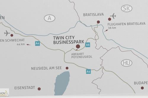 BUSINESSPARK TWIN CITY NÄHE ZU FLUGHAFEN WIEN UND BRATISLAVA