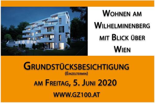 5.5.2020: TAG DES OFFENEN GRUNDSTÜCKS - 9 EXKLUSIVE WOHNUNGEN AM WILHELMINENBERG MIT WIENBLICK